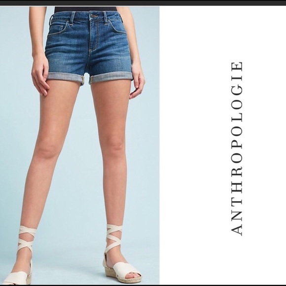 Anthropologie Pants - Anthropologie Pilcro High Rise Denim Shorts